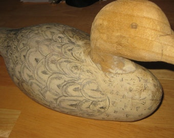 Handcarved Wood Decoy Duck collectible ON SALE