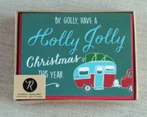 Christmas Card Boxed Set, Holiday Cards, Boxed Set, Christmas Cards, Vintage Camper, Vintage Inspired, Festive Card