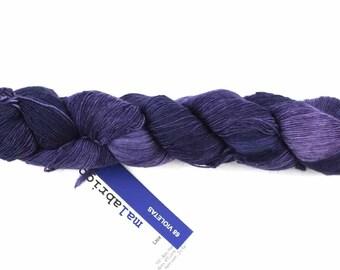 Malabrigo Merino Wool Lace Yarn, Violetas, deep violet purple, color 68