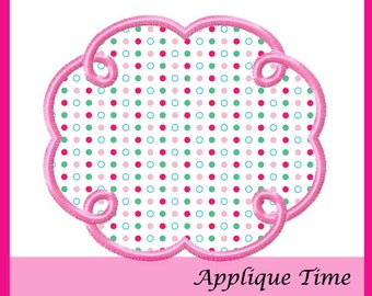 Instant Download Frame 21 Machine Embroidery Applique Design 4x4, 5x7 and 6x10