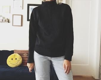 1950s Navy Mockneck Sweater