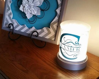 Personalized Monogram Decal for Scentsy Charmer Warmer (Decal Only)
