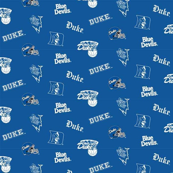 San Diego Chargers Fleece Fabric: NCAA Duke University Blue Devils V2 Fleece Fabric 1.5 Yards