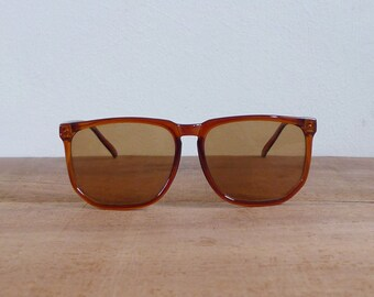 Vintage 70's Sepia Brown Oversized Boho Sunglasses