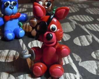 FNAF Foxy Figure, Five Nights at Freddy's Foxy, Polymer Clay Figure, Desk Buddy
