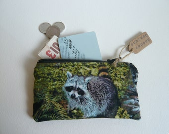 Cute Raccoon purse - coin purse, Canadian wildlife, Canada, bandits