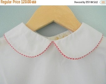 SALE 50% OFF SALE 50 Percent Off Girl White Peter Pan Collar Blouse Shirt