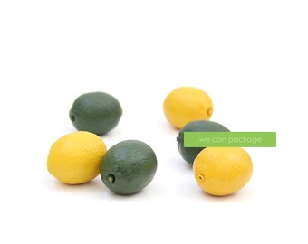 Artificial Mini Lemons - 6 Pack