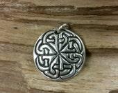Pure Silver Celtic knotwork Pendant