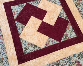 Quilted Table Topper - Handmade Table Topper