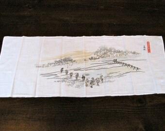 Vintage Japanese cotton tenugui
