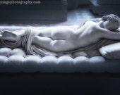 Statue Photograph, Louvre Museum, Paris Decor, Romantic Photo, Stone Sculpture, Female Nude, Fine Art Photography, White Marble Statue