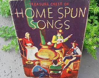 Vintage Song Book of Home Spun Songs 1935