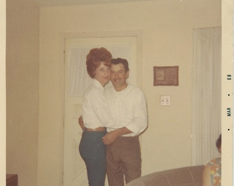 Taller by a Hair - Vintage Photo - Teased Hair - Color Snapshot - Found Photo - Collectibles