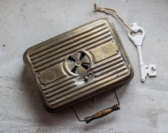 Antique French Heater // Portable Foot and Hand Warmer