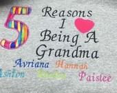 Grandparent or mom shirt on t shirt