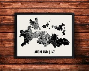 Auckland Map Art Print | Auckland Print | Auckland Art Print | Auckland Poster | Auckland Gift | Wall Art