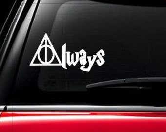 Deathly Hallows, Harry Potter, Always inspired car window decal