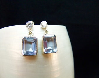 Alexandrite Silver Handmade Stud Earrings