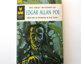 Edgar Allen Poe Paperback Book, 1962, Ten Great Mysteries