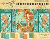 Graphic 45 Voyage Beneath The Sea Collection 12 x 12 Scrapbook Paper Pad  New CHA Winter Release In Stock Ready To Ship