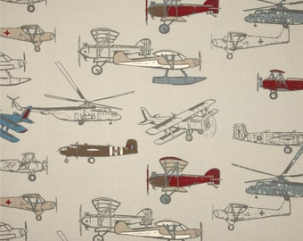 Vintage Airplane Pillow Cover