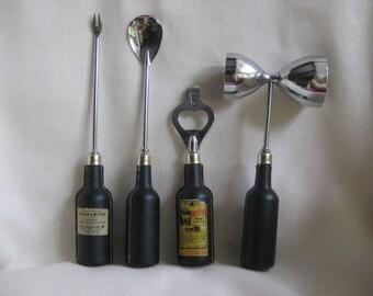 Vintage Sixties Bar Tool Set