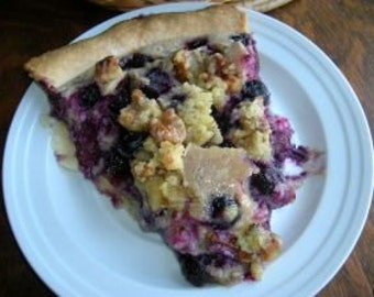 Amish Sour Cream Blueberry Pie Recipe~~~Instant Download