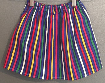 Girls Striped Skirt, multi-colored skirt