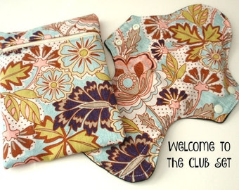 Welcome to the Club A first time cloth user gift set Reusable Cloth Menstrual pads
