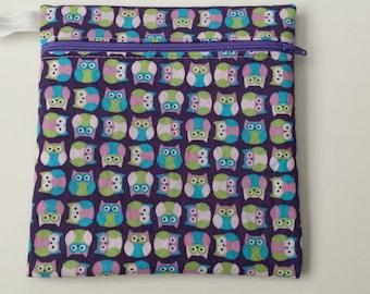 New Hot Print Wet bag: Purple Owls Hoot Hoot Mini owls