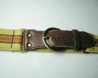 Vintage 70's wide vinyl and elastic men's belt size 32-46