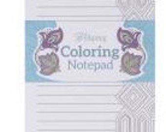 Adult Coloring notepad or shopping list