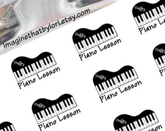Piano lesson Planner Stickers