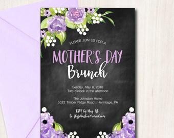 Mother's Day Brunch Invitation, Easter Brunch Invite, Easter Brunch Invitation, Rustic Bridal Shower Invite, Printable Invitation