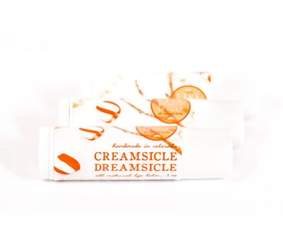 Creamsicle Dreamsicle Lip Balm - All Natural - Sweet Vanilla Orange Cream
