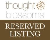 RESERVED Listing for Rhiannon - Sterling Disc Bracelet