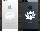 "PH - Lotus Flower - Design 1 - Android / iPhone - Vinyl Phone Decal (1.75""w x 1.5""h) (COLOR CHOICES)"