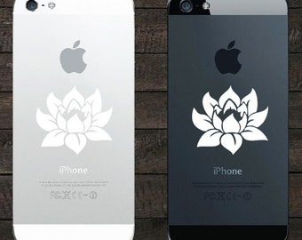 """PH - Lotus Flower - Design 1 - Android / iPhone - Vinyl Phone Decal (1.75""""w x 1.5""""h) (COLOR CHOICES)"""