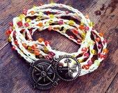 Follow Your Arrow: Versatile crocheted necklace / bracelet / belt / headband