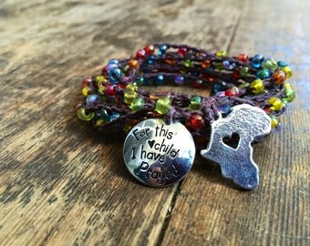 Laylu Love: Versatile crocheted necklace / bracelet / belt / headband