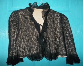 Antique VICTORIAN ERA Lace Jacket...French Alencon Lace...Good Condition...Free Shipping