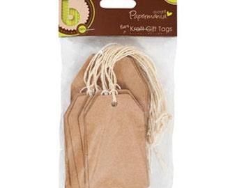 Packet Plain Gift Tags Kraft - Craft Decorate - 10 x large 10 x small - Kraft Tag Manilla Labels