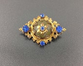 Sweet Imperial Russia Rhinestone Brooch Pin, Ornate Scatter Pin.