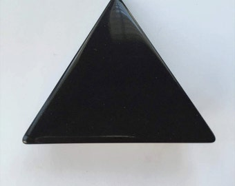 Black Lucite Triangle French Barrette, for fun, fashion, parties, special occasions