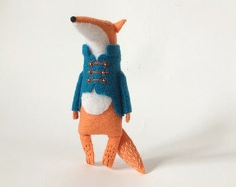 Felt Fox Toy, Stuffed Fox Toy, Felted Miniature Animals, Woodland Animals Softie, Fox Stuffed Animal, Fox Doll, Soft Animals, Unique Animals