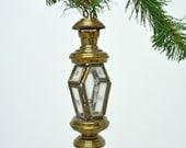 Vintage Brass Lantern Ornament.....Miniature Lantern