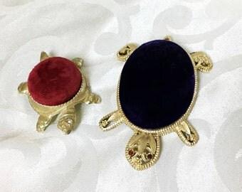 Vintage Turtle Jewelry Display Holders ~ Ring Holder