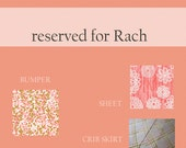 Reserved for Rach Custom Crib Bumpers / Crib Skirt / Sheet payment two of two