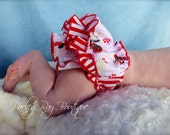 Beautiful Parley Ray Disney's Minnie Mouse Stripes Ruffled Baby Bloomers/ Diaper Cover /Photo Prop